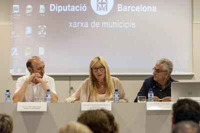 La alcaldesa, durante su intervención (foto: Cesar Font).