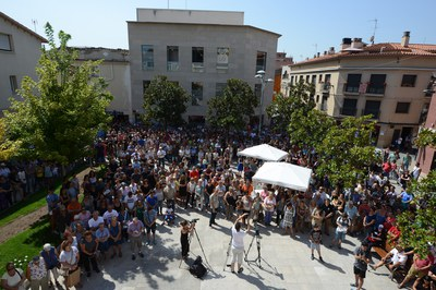 Cientos de rubinenses han expresado su condena a los atentados (foto: Locapres).