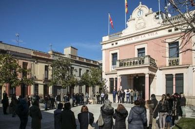 La concentración ha sido este miércoles (Foto: Ayuntamiento/Lali Puig).