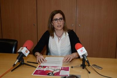 La concejala de Políticas de Igualdad, Maria Mas, durante la presentación de las actividades (foto: Localpres).