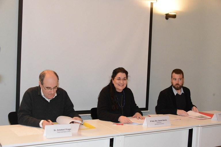 La alcaldesa, Carme García, presentó la jornada de trabajo (foto: Localpres)