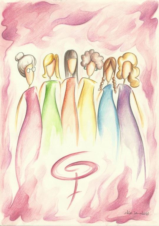 La imagen del programa de este año lo ha diseñado la ilustradora Núria Jiménez Portí y conmemora la fuerza de las mujeres en la sociedad