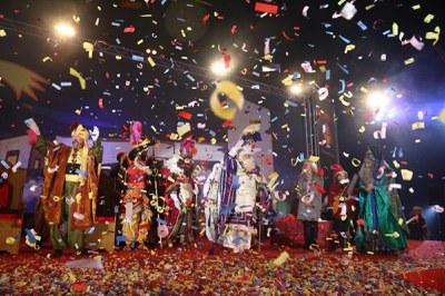 Los Reyes han llegado al Escardívol (foto: Lali Puig).