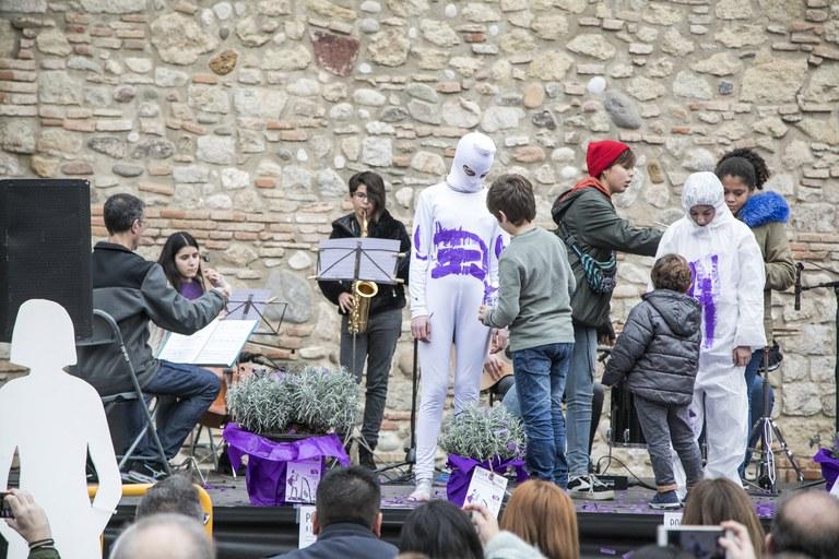 Performance contra la violencia machista (foto: Ayuntamiento - Lali Puig)