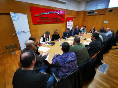 La reunión se ha celebrado en la sede del Consejo Comarcal (Foto: Consell Comarcal).