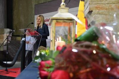 La alcaldesa, durante su discurso (foto: Ayuntamiento - Localpres)