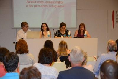 Los tres ponentes, acompañados de la concejala Marta García (foto: Localpres).