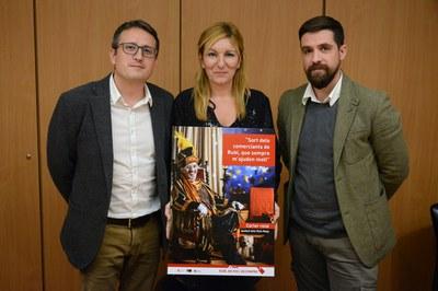 La alcaldesa y los concejales de Comercio y Cultura han presentado la programación en rueda de prensa (foto: Localpres).