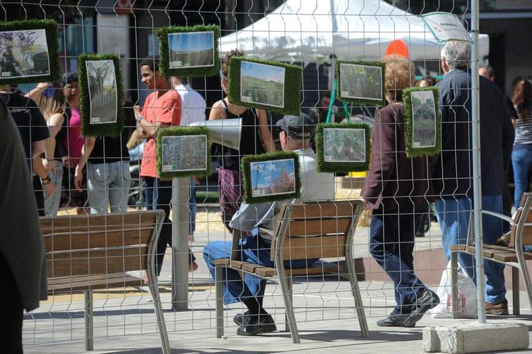 Las imágenes que los rubinenses han presentado al FotoNatura se han expuesto en la plaza Doctor Guardiet (foto: Localpres)