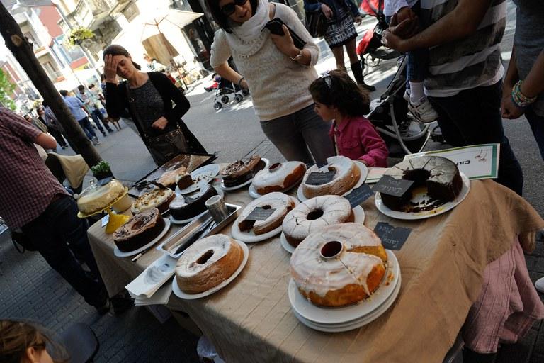 Los restaurantes ecológicos han expuesto algunos de los platos que realizan habitualmente (foto: Localpres)
