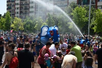 El correagua, con el Bòjum como gran protagonista, ha sido una de las novedades de esta fiesta (foto: Localpres).