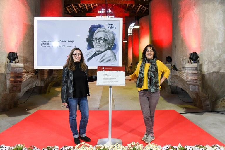 Carme Martí y Elisenda Belenguer (foto: Ayuntamiento de Rubí - Localpres)