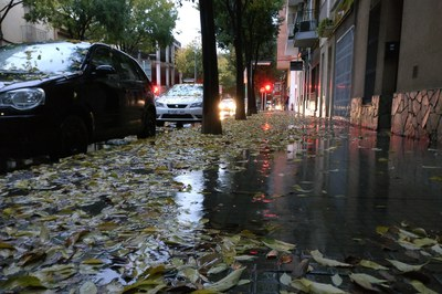 Durante todo el día se esperan fuertes lluvias con intensidades de más de 20 mm en 30 minutos en toda Cataluña.