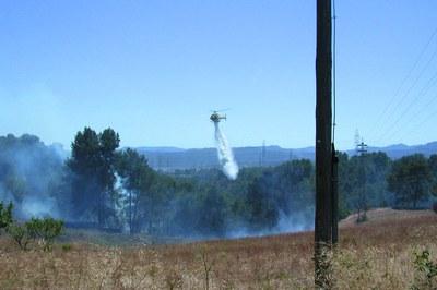 Las condiciones meteorológicas de los próximos días incrementan el riesgo de incendio forestal (Diari de Rubí).