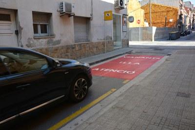 Uno de los cruces que se ha señalizado es el de la calle Doctor Robert con la calle Justícia (foto: Ayuntamiento).