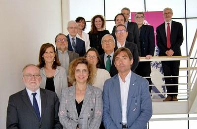 Las persones miembros del jurado de los premios, entre las cuales hay Olga González, coordinadora del Ámbito de Promoción Económica y Proyectos Estratégicos del Ayuntamiento de Rubí (foto: Cámara de Terrassa).