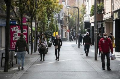 La zona peatonal concentra un gran número de comercios (foto: Ayuntamiento de Rubí - Lali Puig).
