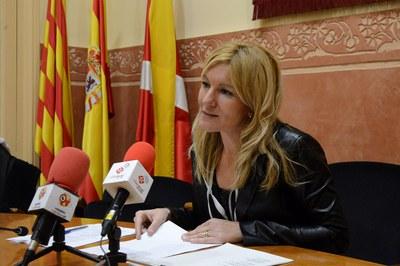 La alcaldesa ha presentado la programación en rueda de prensa (foto: Localpres).