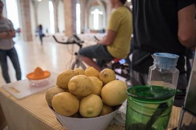 Los rubinenses podrán elaborar un granizado de limón pedaleando, una actividad que también se ha llevado a cabo en otros municipios.