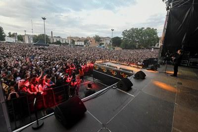 El Escardívol se ha llenado a rebosar con motivo del concierto (foto: Localpres).
