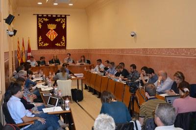 Los plenos se realizan habitualmente en la sala Enric Vergés (imagen de archivo).