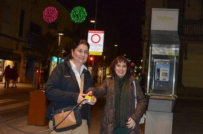 García y Meneses, en el momento de encender la iluminación navideña (foto: Localpres).