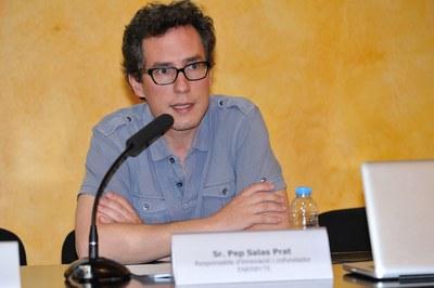 El responsable de Innovació y cofundador de Enerbyte, Pep Salas, ha pronunciado la conferencia 'Reptes actuals del model energètic en transició' (foto: Localpres)