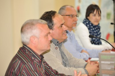 De izquierda a derecha, Jordi Vilalta, Xavier Arís, Lluís García y Anna Vallhonrat (foto: Localpres)
