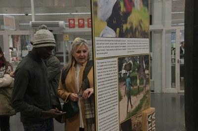 La muestra se puede visitar al vestíbulo de la biblioteca (Foto: Ayuntamiento/Localpres).