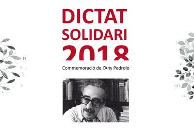 En esta ocasión, y coincidiendo con el centenario de su nacimiento, se ha escogido una obra de Manuel de Pedrolo para hacer el dictado.