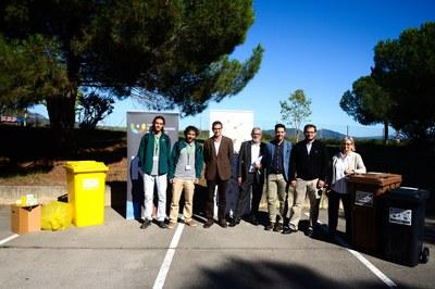 La presentación de la prueba piloto ha tenido lugar este lunes en la sede del Consorcio para la Gestión de Residuos (foto: Localpres).