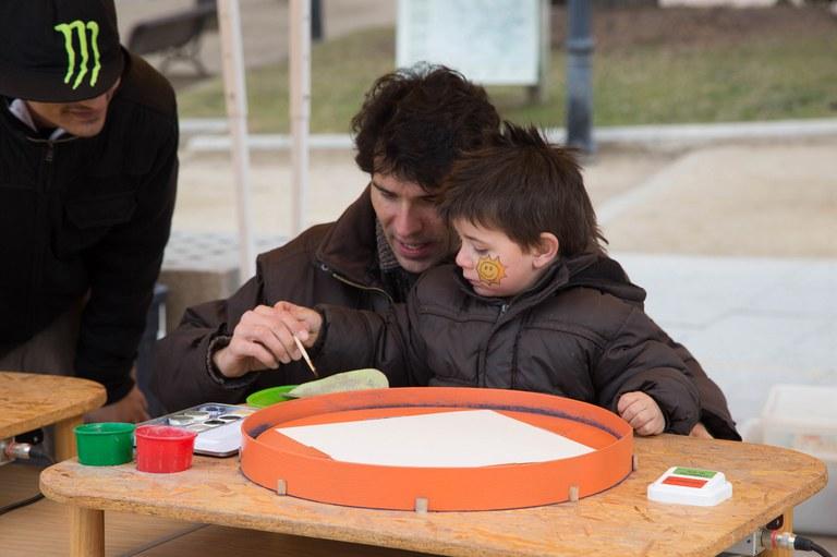Los más pequeños también pudieron disfrutar de actividades pensadas para ellos (foto: Localpres)