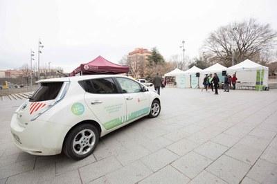 También se estableció un circuito de prueba del coche eléctrico (foto: Localpres)