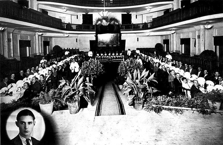 Comida con motivo de la cesión de un cuadro de Ricard Marsal en 1935