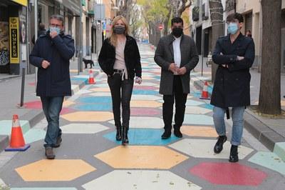 Tapiz de la calle Cervantes.