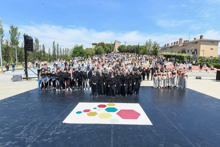 Foto de todas las personas participantes (foto: Ayuntamiento de Rubí - Localpres)