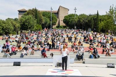 La alcaldesa, abriendo la actividad (foto: Ayuntamiento de Rubí - Localpres).