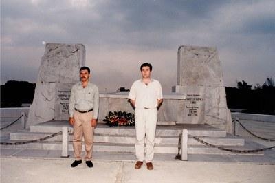Pallejà, con el alcalde de Boyeros, Manuel de Jesús Paniagua Calle (foto: Ayuntamiento de Rubí - Jordi Garcia).