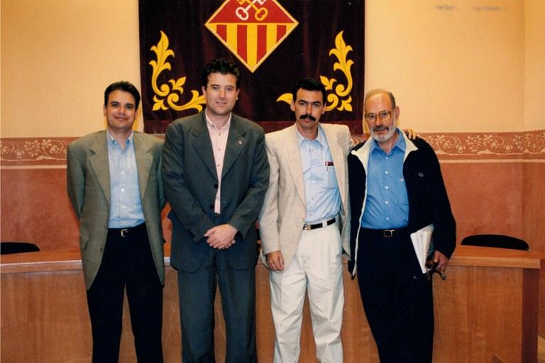 Visita institucional de la delegación de Boyeros a Rubí en 1999 (foto: Ayuntamiento de Rubí - Jordi Garcia)