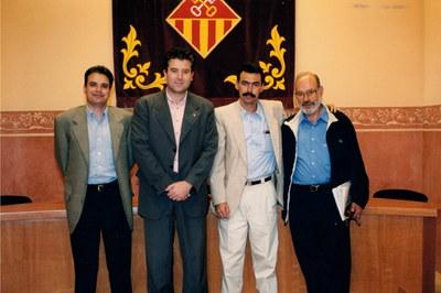 Visita institucional de la delegación de Boyeros a Rubí en 1999 (foto: Ayuntamiento de Rubí - Jordi Garcia).