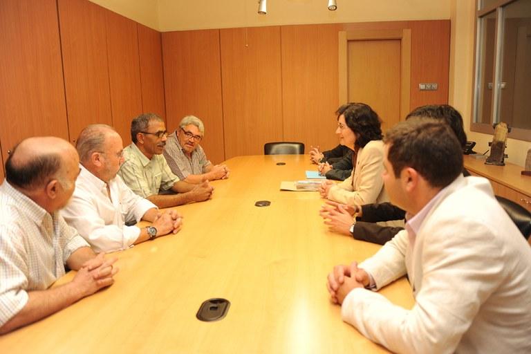 Visita de una delegación de Guelta en Rubí, en 2009 (foto: Ayuntamiento de Rubí)