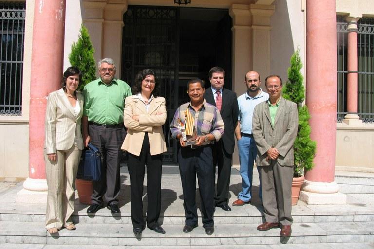 En 2012, una delegación nicaragüense visitó Rubí (foto: Ayuntamiento de Rubí)