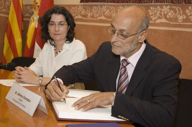 Visita institucional del alcalde de Pudahuel, Johnny Carrasco, a Rubí (foto: Ayuntamiento de Rubí - Jordi Garcia)
