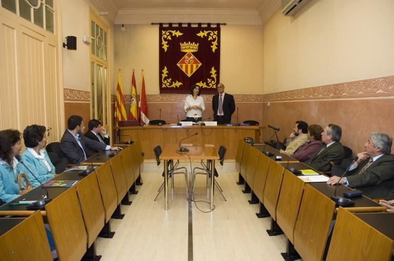 Recepción institucional a la delegación de Pudahuel (foto: Ayuntamiento de Rubí - Jordi Garcia)