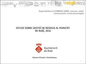 Informe Estudi Gestió de residus a Rubi portada