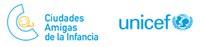Logotip Ciutat Amiga de la Infància_blanc