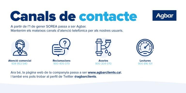 Canales de contacto de Agbar