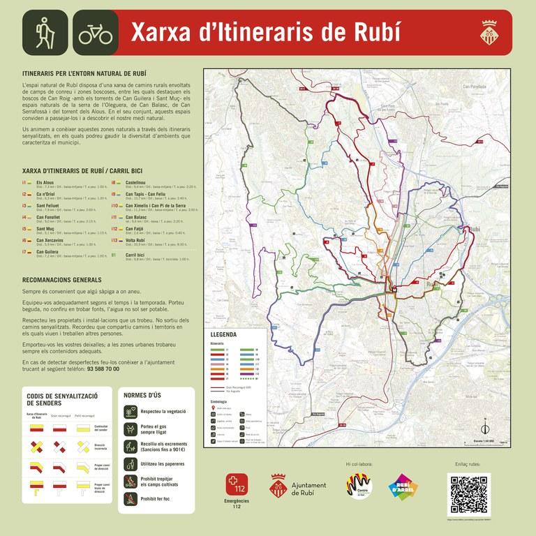 Plànols de la xarxa d'itineraris