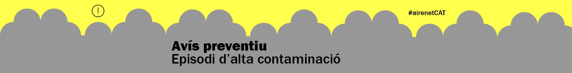 Avís preventiu per contaminació