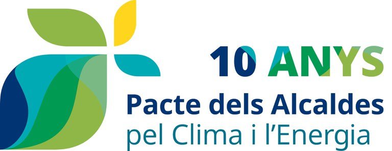 Logo Pacte dels Alcaldes 10 anys